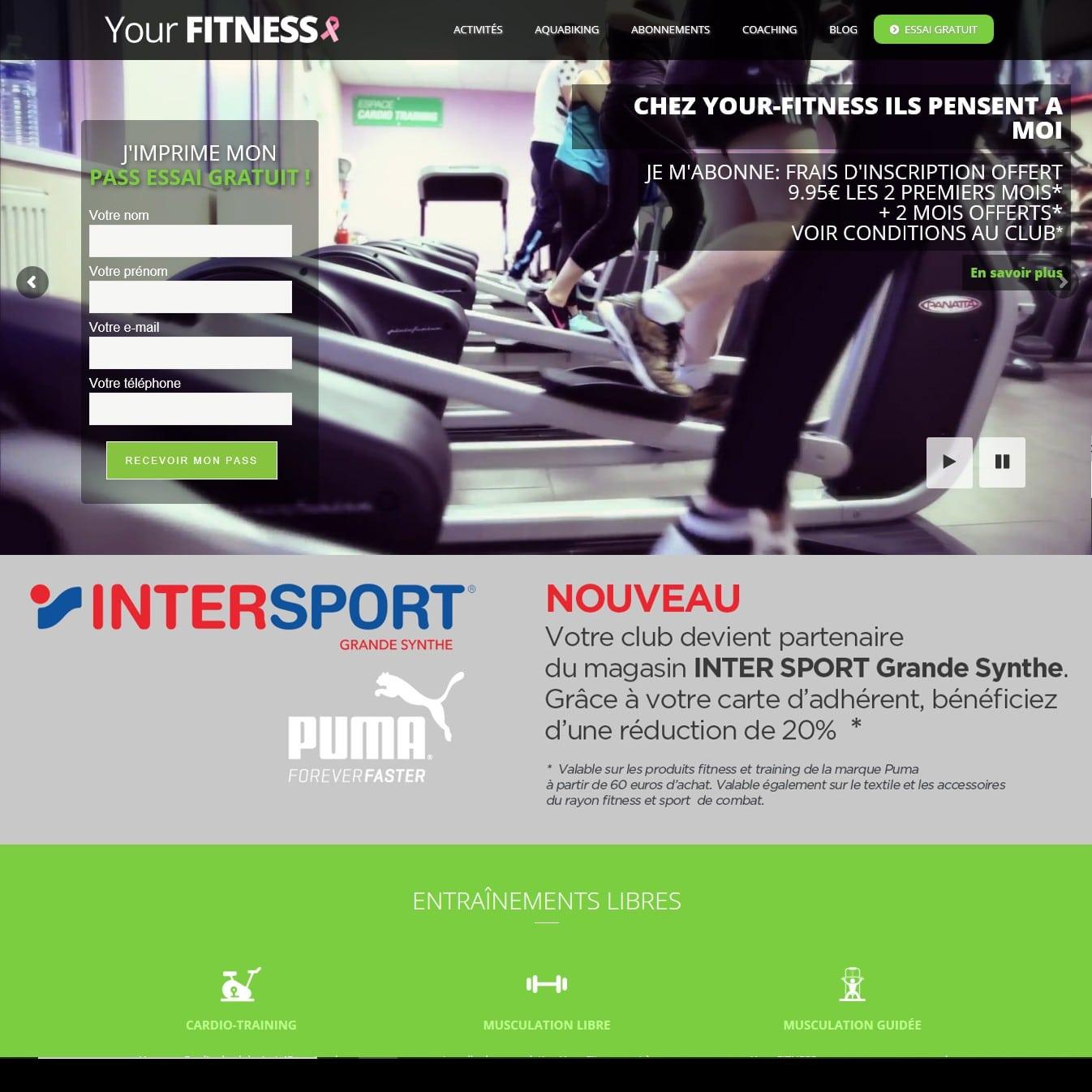 Fitness avis sur le site